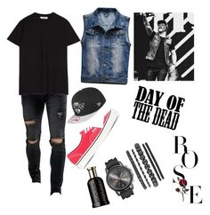 """""""Danny Rose Murillo/ Day Of The Dead"""" by godroseundead on Polyvore featuring Liquor n Poker, Sefton, Vans, HUGO, men's fashion and menswear"""