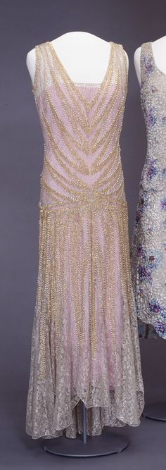 Gala dress by Blancquaert, 1929, at the National Museum of Art, Architecture and Design. Queen Maud of Norway wore this outfit during the wedding celebrations of her son Crown Prince Olav in March 1929.