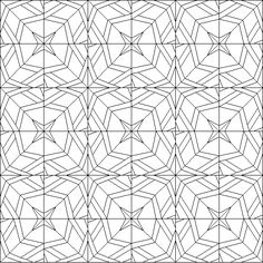 Arabesque Quilt Coloring Page
