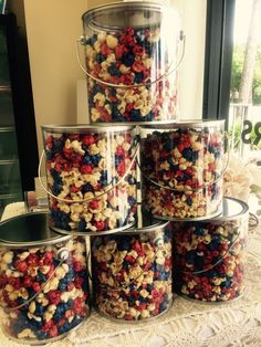 Red white and blue Fourth of July gourmet popcorn pop gourmet popcorn Tampai