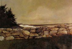 "chasingtailfeathers: "" Andrew Wyeth - The Sweep, 1967 Tempera on masonite, 24 x 35 inches, The Flint Institute of Arts "" Jamie Wyeth, Andrew Wyeth Paintings, Andrew Wyeth Art, Nc Wyeth, Watercolor Landscape, Watercolor Paintings, Pastel Paintings, Watercolor Ideas, Landscape Art"