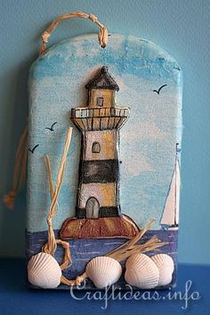 Free Craft Project - Lighthouse Picture