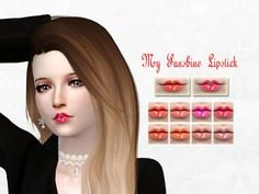 The Sims Resource: My Sunshine Lipstick by Shakura Phan • Sims 4 Downloads
