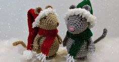 And finally the mice get their Christmas hats! I love these patterns and I hope you will too. You get the instructions for both the long...