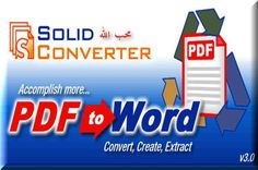 Solid Converter PDF 7.2 Crack Full Portable Version free download for Windows and documents management. Solid Converter PDF 7.2 portable full installer with crack.