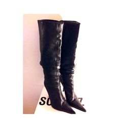 Selling this Hot Sale‼️Bebe💯 Leather Pointy toe Boots on Poshmark! My username is: boheme_soiree. #shopmycloset #poshmark #fashion #shopping #style #forsale #bebe #Boots