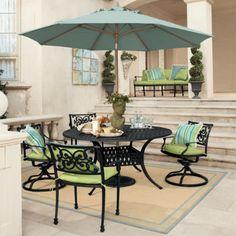 Ballard Designs Amalfi patio furniture. Love the colors.