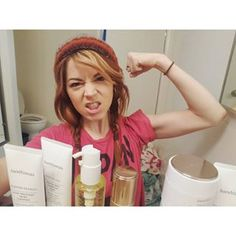 lindseystirlingThanks for the skin care products. It's going to make my skin smooth and strong and ready to fight off acne. Lindsey Stirling Style, Violin Photography, Good Music, Cleanser, Skin Care, Hero, Queen, Bareminerals, Woman