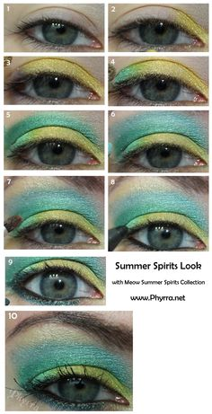 Meow Cosmetics Summer Spirits tutorial. Pin now, play later.