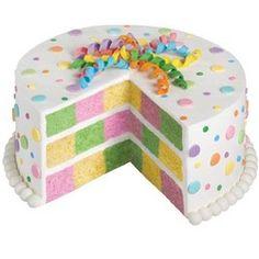 Gâteau damier pastel multicolore pour fêter une baby shower ou le retour des beaux jours ! Moule disponible ici : https://www.patissea.com/moule-checkerboard-pour-gateau-damier-wilton,fr,4,CS2105-9961.cfm