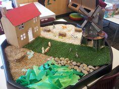 Small world farm eyfs the little red hen