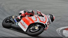 Ben Spies turning the Ducati with the throttle/rear wheel