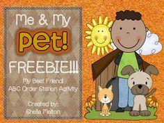FREEBIE! My Best Friend! {ABC Order Activity}