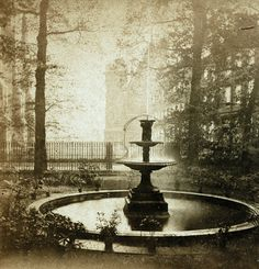 Fountain, The Temple, London, by Valentine Blanchard c.1870
