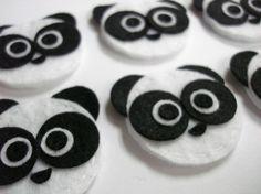 Felt Pandas. Seen anything cuter? I think not. #AlphaOmicronPi