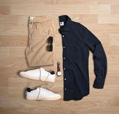 Men Casual Shirt Outfit 🖤 Very Attractive Casual Outfit Grid, Mode Outfits, Sexy Outfits, Casual Outfits, Fashion Outfits, Outfit Grid, Casual Wear, Men Casual, Casual Shirt, Look Man