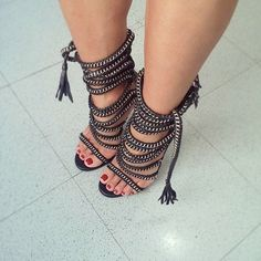 #chain #blacksandals