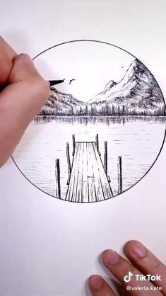 Art Drawings Beautiful, Art Drawings Sketches Simple, Pencil Art Drawings, Amazing Pencil Drawings, Pencil Sketch Art, Easy Nature Drawings, Nature Sketches Pencil, Dragon Drawings, Pencil Sketching