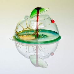 Soap, Milk, Acrylic paint, Water and Guar Gum Make Up These Remarkable Liquid Sculptures | ExposureGuide.com