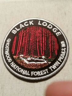Black Lodge Ghostwood National Forest Twin Peaks Tribute Limited Edition Embroidered Patch