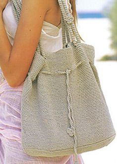 20 PAGES of FREE crochet patterns shown here: a large purse / bag
