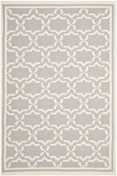 Safavieh Dhurries DHU-545 Grey, Ivory (G) Area Rugs