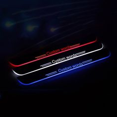 61.99$  Buy now - http://aliiaa.worldwells.pw/go.php?t=32635881201 - 2X COOL !!!custom  LED Door Sill Scuff Plate emblems car accessories car styling for  Audi A3/S3 TWO Doors 2014-2015 61.99$