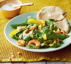 Lauwwarme salade met garnalen - Recept - Jumbo Supermarkten