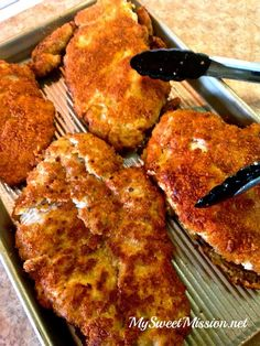 Marinated Crispy Panko Chicken Breasts by MySweetMission.net