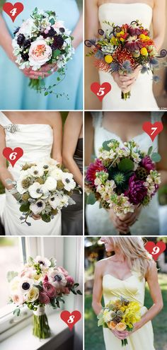10 wedding bouquets you will die over!  i love numbers 1 and 8