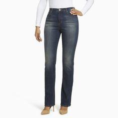 Women's Gloria Vanderbilt Amanda High-Rise Bootcut Jeans, Size: 4 - regular, Light Blue