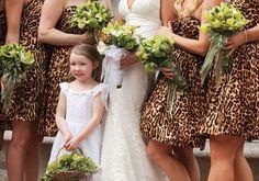 leopard print wedding with cowgirl boots Cheetah Print Wedding, Animal Print Wedding, Leopard Wedding, Safari Wedding, Printed Bridesmaid Dresses, Wedding Dresses, Wedding Bridesmaids, Hot Pink Weddings, Cheetah Dress