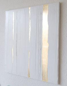 Trends Handmade Board Ideas : goldline  Art on Canvas. 375.00 via Etsy.