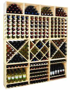 Regał na wino RW-6-4 60x60x30 - Seria RW-6 - Regały na wino Wine Cellar, Wine Rack, Calendar, Cellar Ideas, Holiday Decor, Diy, Inspiration, Design, Home Decor