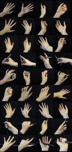 Hand References 01 by Fjalldis on deviantART