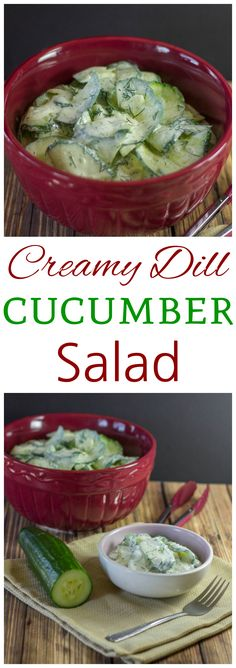 Here's a creamy low carb dill cucumber salad made with a sour cream and vinegar based dressing. Suitable for low carb high fat LCHF keto and Banting diets!