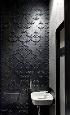 all black texture pattern mosaic tile wall