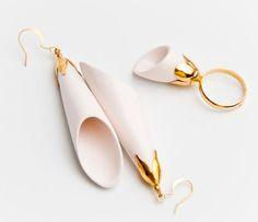 Raluca Buzura - Romanian Jewelry Designer  Glazed Porcelain set