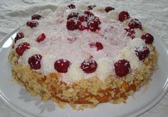 Original German Recipe: The German Raffaello Cake is a wonderful cake for Valentine's Day which is celebrated in Germany like in the USA. Surprise him or her with this cake! Or just make it because it is heavenly delicious!