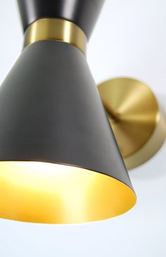 """INDOOR RECHARGEABLE, BATTERY OPERATED WALL LAMP - ANTIQUE BRASS WITH BLACK METAL SHADES (MINI BATTERY MODEL) Battery operated wall sconce you can place ANYWHERE! Please note... walls must be fairly flat to accept our wall bracket kit. Commercial Order? Click Here to sign up as an Industry Partner for volume discounts. For International Shipment, please email for rate request. This """"retro modern"""" battery operated wall sconce is so versatile you can easily hang it yourself in minutes and place it Modern Lanterns, Modern Wall Lights, Battery Operated Wall Sconce, Cordless Lamps, 1w Led, Standard Lamps, Wall Anchors, Light Art, Black Metal"""