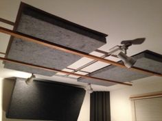 Inexpensive, attractive DIY acoustic panels made by the author for his own studio.