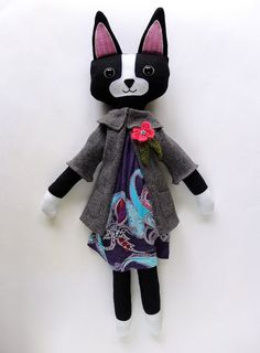 Isabelle the Boston Terrier Toy by ipamea on Etsy, €36.00