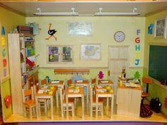 VINTAGE FARMACIA shop sul bancone 7 Casa delle Bambole in Miniatura