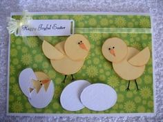 Die cut chick (Card-Making-Magic) could make chicks for scrapbook page too