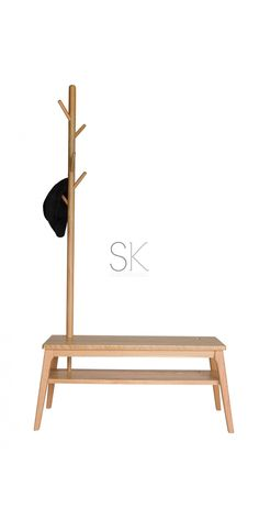 Wegner Shoes Stand & Clothes / Coat Rack - Natural $219  SK DESIGNER LIVING  (OUT OF STOCK EXPECTED START MAY - PRE ORDERS WELCOME