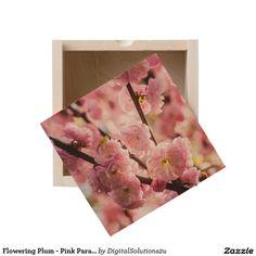 Flowering Plum - Pink Paradize Wooden Keepsake Box