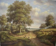 """Wall Art Decorating Ideas Classical Paintings Reproduction Acrylic Landscape Painting, Size: 36"""" x 24"""", $104. Url: http://www.oilpaintingshops.com/wall-art-decorating-ideas-classical-paintings-reproduction-acrylic-landscape-painting-2113.html"""