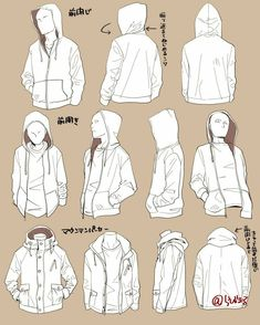 Coat. Jacket. Hoodie. Sweatshirt. Reference. Clothes. Male.