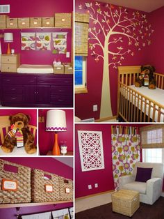 This nursery is chic, modern, functional, and perfect for a little girl.