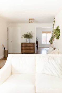 Get all the details about purchasing a Pottery Barn Sofa to help make your decision easier. We're talking comfort, style and design elements for a Pottery Barn Slipcovered Sofa versus our Ikea model! Room Wall Colors, Paint Colors For Living Room, Paint Colors For Home, My Living Room, Pottery Barn Paint Colors, Cozy Living, House Colors, Do It Yourself Inspiration, Home Decor Inspiration